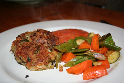 Tasty tuna fish cake